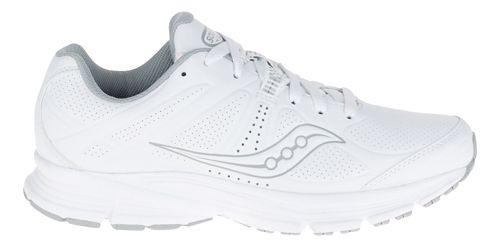 Womens Saucony Momentum Walking Shoe - White/Grey 7.5