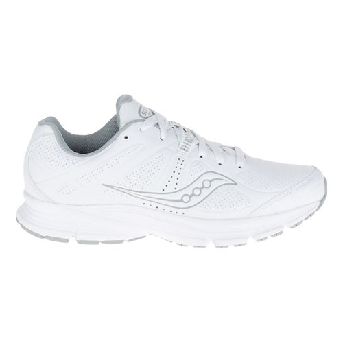Womens Saucony Momentum Walking Shoe - White/Grey 8.5