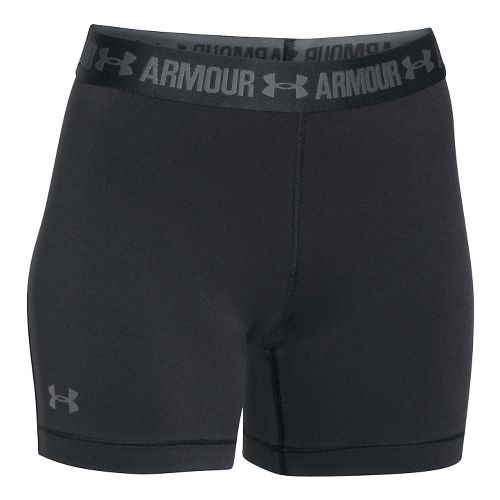 Womens Under Armour HeatGear Middy Compression & Fitted Shorts - Black L
