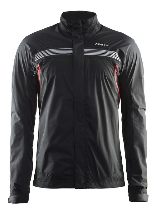 Mens Craft Escape Rain Jackets - Black/Bright Red S