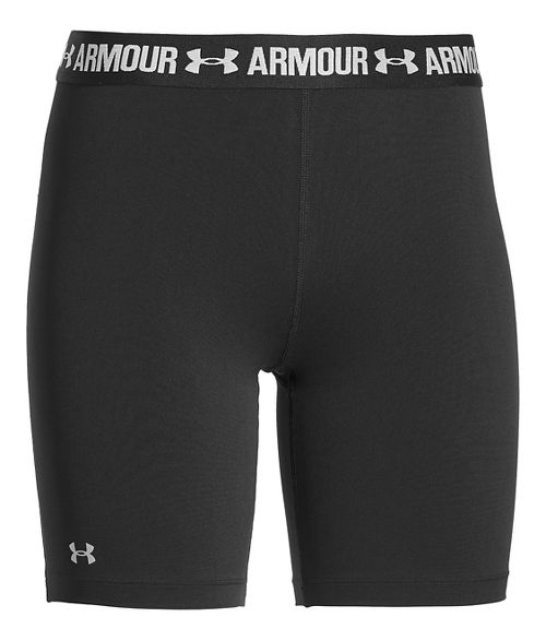 Womens Under Armour HeatGear Long Short Compression & Fitted Shorts - Black XS