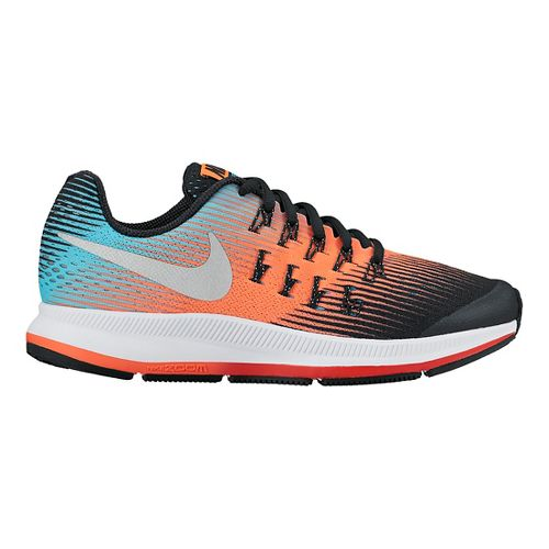 Kids Nike Air Zoom Pegasus 33 Running Shoe - Orange/Blue 6.5Y
