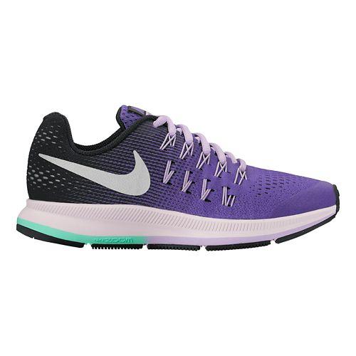 Kids Nike Air Zoom Pegasus 33 Running Shoe - Purple 6.5Y