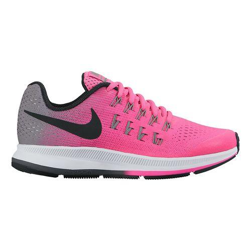 Kids Nike Air Zoom Pegasus 33 Running Shoe - Orange/Blue 6Y