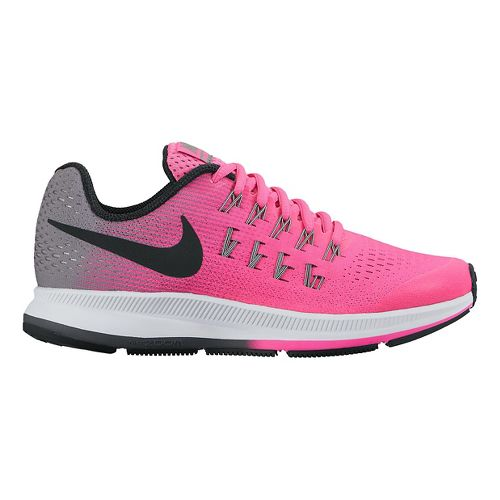 Kids Nike Air Zoom Pegasus 33 Running Shoe - Pink 7Y
