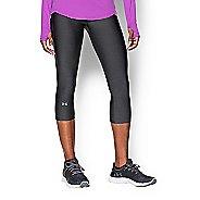 Womens Under Armour HeatGear Capris Pants - Carbon Heather L