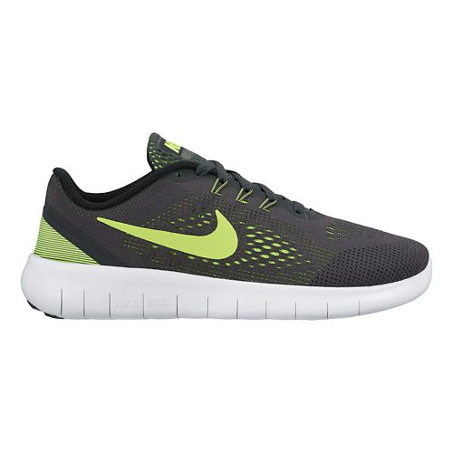 Kids Nike Free RN Running Shoe - Anthracite/Volt 6Y