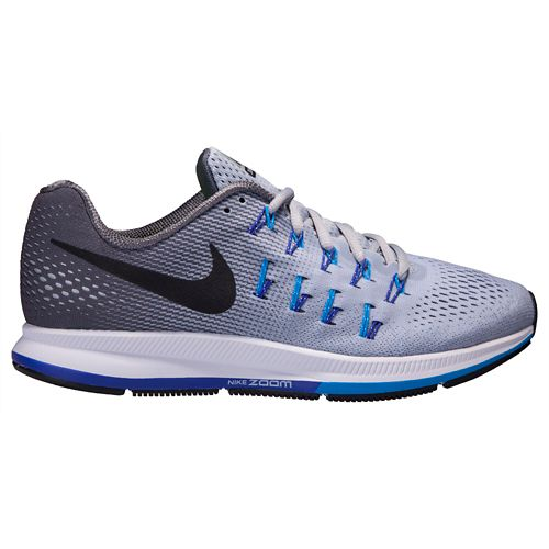 Mens Nike Air Zoom Pegasus 33 Running Shoe - Grey 7.5