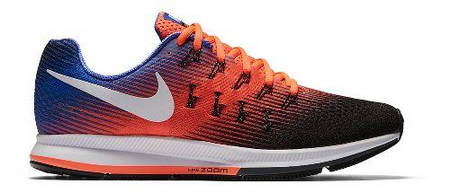 Mens Nike Air Zoom Pegasus 33 Running Shoe - Orange/Blue 13