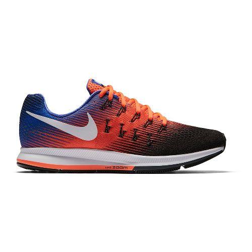 Mens Nike Air Zoom Pegasus 33 Running Shoe - Orange/Blue 10.5