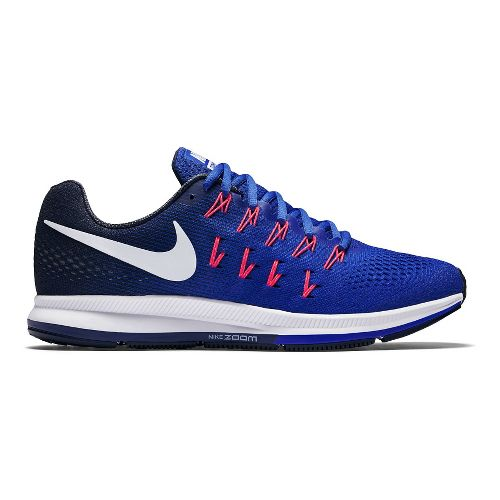 Mens Nike Air Zoom Pegasus 33 Running Shoe - Blue/Navy 12.5