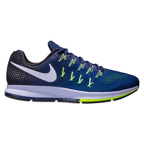 Mens Nike Air Zoom Pegasus 33 Running Shoe - Blue/Black 11.5