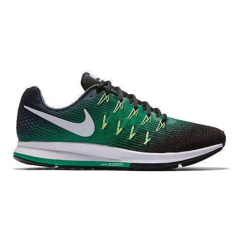 Mens Nike Air Zoom Pegasus 33 Running Shoe - Green/Black 10.5