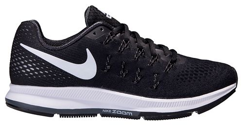 Womens Nike Air Zoom Pegasus 33 Running Shoe - Black/White 6