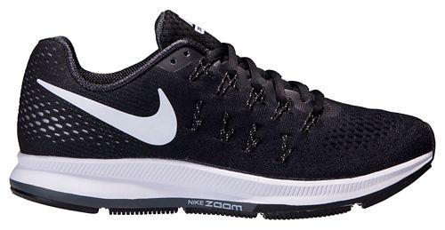 Womens Nike Air Zoom Pegasus 33 Running Shoe - Black/White 6.5