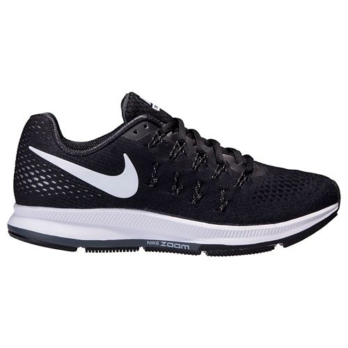 Womens Nike Air Zoom Pegasus 33 Running Shoe - Black/White 6.5