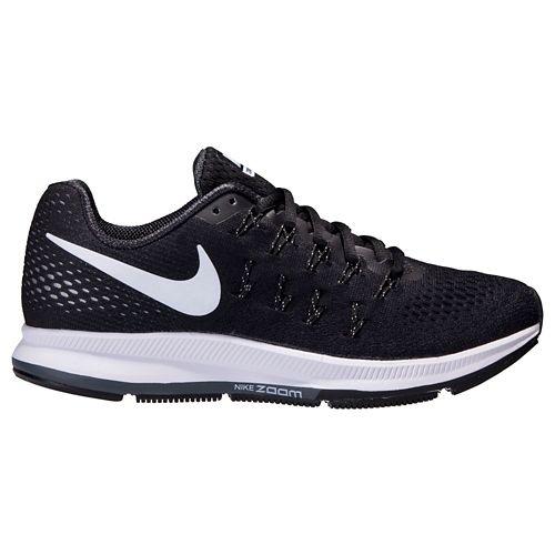 Womens Nike Air Zoom Pegasus 33 Running Shoe - Black/White 8