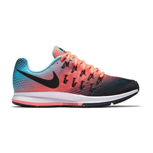 Womens Nike Air Zoom Pegasus 33 Running Shoe - Pink/Blue 10
