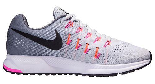 Womens Nike Air Zoom Pegasus 33 Running Shoe - Platinum 10