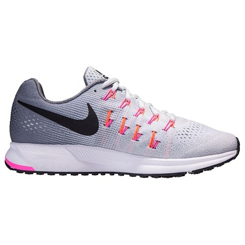 Womens Nike Air Zoom Pegasus 33 Running Shoe - Platinum 6