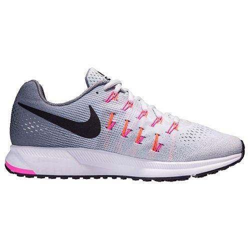 Womens Nike Air Zoom Pegasus 33 Running Shoe - Platinum 9