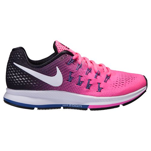 Womens Nike Air Zoom Pegasus 33 Running Shoe - Pink/Black 11