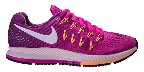 Womens Nike Air Zoom Pegasus 33 Running Shoe - Pink/Grape 6