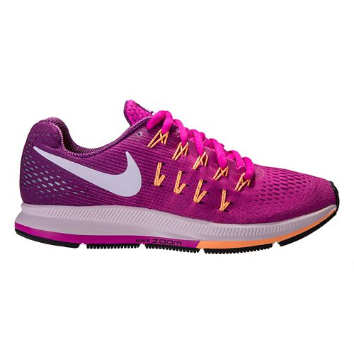 Womens Nike Air Zoom Pegasus 33 Running Shoe - Pink/Grape 9