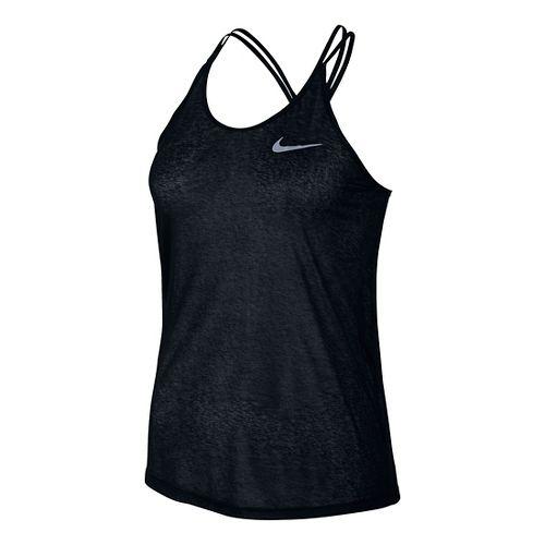 Womens Nike Dri-FIT Cool Breeze Strappy Tank Sleeveless & Tank Technical Tops - Black M