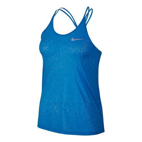 Womens Nike Dri-FIT Cool Breeze Strappy Tank Sleeveless & Tank Technical Tops - Light Photo Blue XL