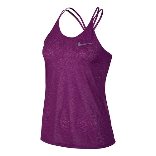 Womens Nike Dri-FIT Cool Breeze Strappy Tank Sleeveless & Tank Technical Tops - Cosmic Purple ...