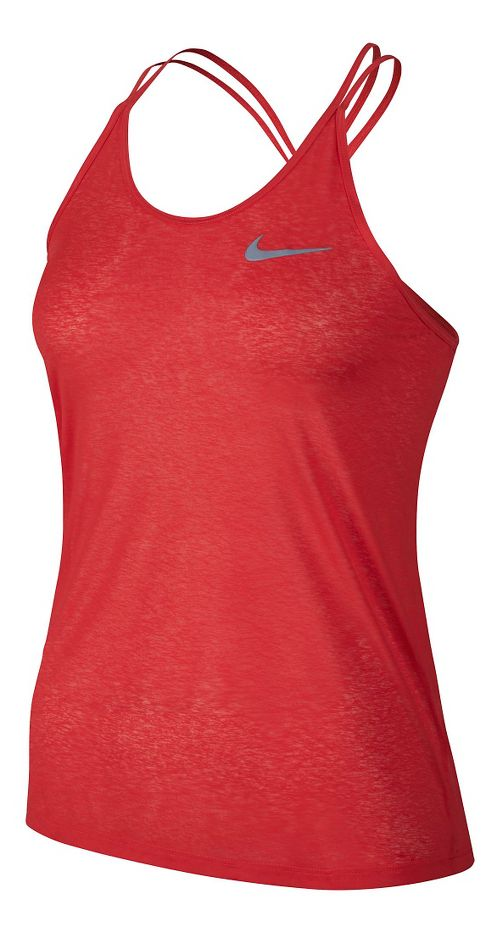 Womens Nike Dri-FIT Cool Breeze Strappy Tank Sleeveless & Tank Technical Tops - Light Crimson XL