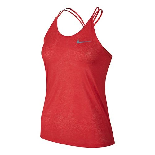 Womens Nike Dri-FIT Cool Breeze Strappy Tank Sleeveless & Tank Technical Tops - Light Crimson M