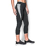 Womens Under Armour HeatGear Armour Crop (Print Inset) Capris Pants