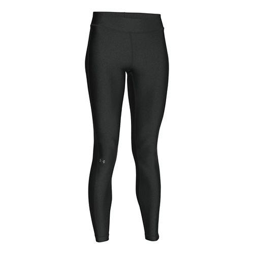 Womens Under Armour HeatGear Armour Tights & Leggings Pants - Carbon Heather S