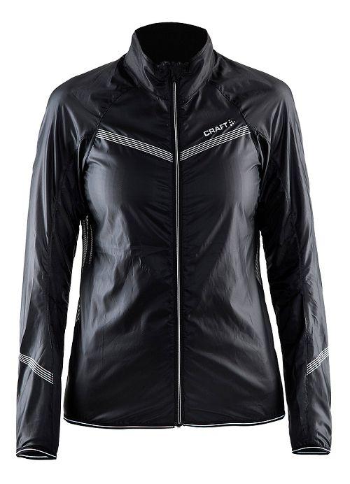 Womens Craft Featherlight Running Jackets - Black L