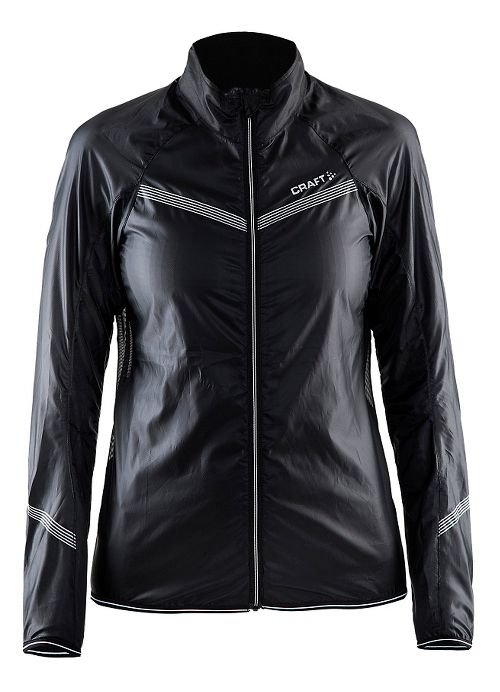 Womens Craft Featherlight Running Jackets - Black XS