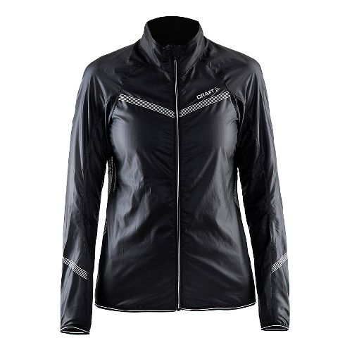 Womens Craft Featherlight Running Jackets - Black XXL