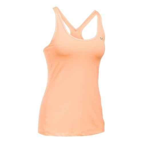 Womens Under Armour HeatGear Racer Sleeveless & Tank Tops Technical Tops - Playful Peach XL ...