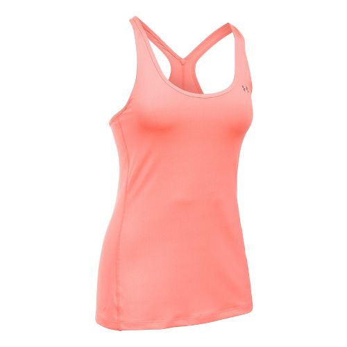 Womens Under Armour HeatGear Racer Sleeveless & Tank Tops Technical Tops - London Orange L ...