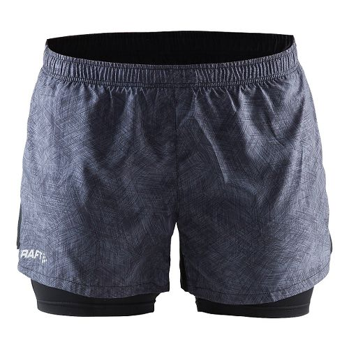 Womens Craft Focus2-in-1 Shorts - Line Black/Black XS