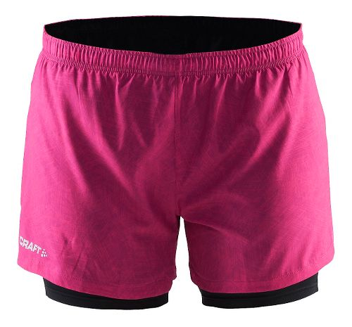 Womens Craft Focus2-in-1 Shorts - Line Smoothie/Black XS