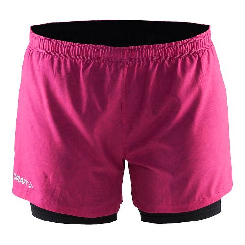 Womens Craft Focus2-in-1 Shorts - Line Smoothie/Black L