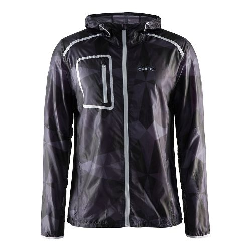 Mens Craft Focus Hood Jacket Half-Zips & Hoodies Technical Tops - Geo Black/Platinum S