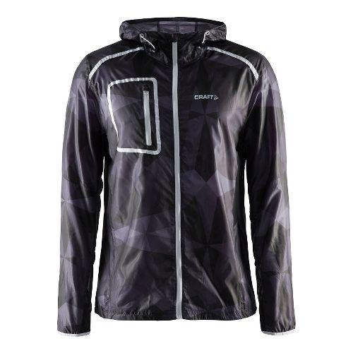 Mens Craft Focus Hood Jacket Half-Zips & Hoodies Technical Tops - Geo Black/Platinum XXL