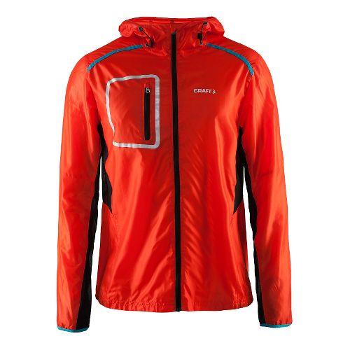Mens Craft Focus Hood Jacket Half-Zips & Hoodies Technical Tops - Heat/Drop/Black M