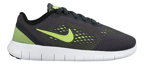 Kids Nike Free RN Running Shoe - Anthracite/Volt 11C