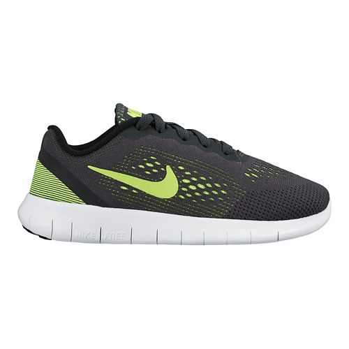 Kids Nike Free RN Running Shoe - Anthracite/Volt 3Y