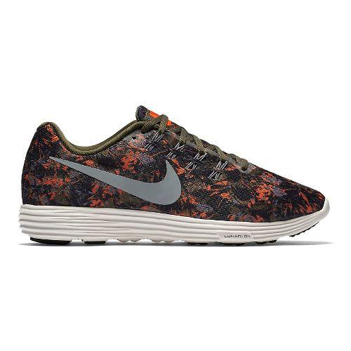 Mens Nike LunarTempo 2 Print Running Shoe - Cargo Khaki/Orange 11