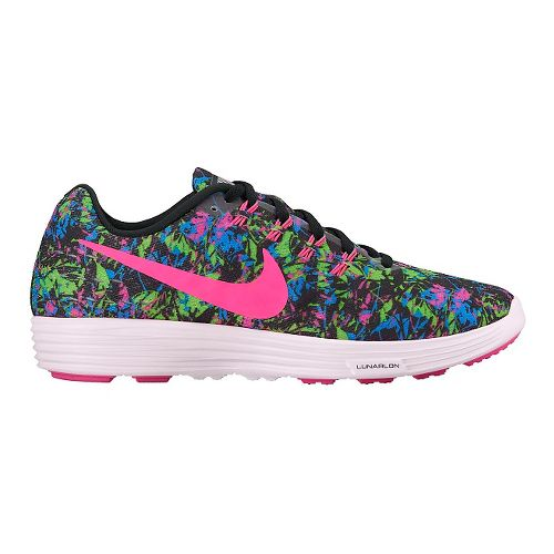 Womens Nike LunarTempo 2 Print Running Shoe - Black/Multi 9.5